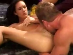 taylor rain: sexually excited black brown drilled