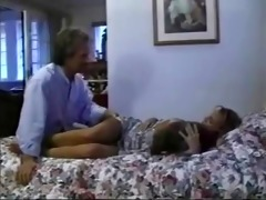 hawt retro daughter drilled by father
