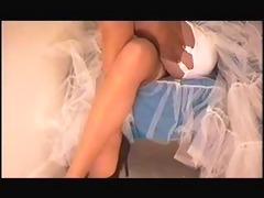 upskirt girdle &; stockings