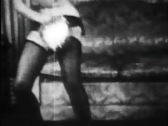 vintage stripper film - b page tambourine dance