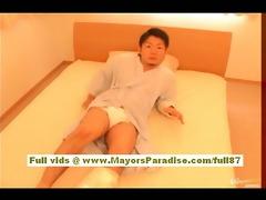 rio hamasaki asian nurse in uniform acquires muff