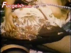 classic blonde wearing fishnet doing phone sex