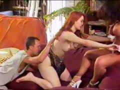 vintage anal three-some