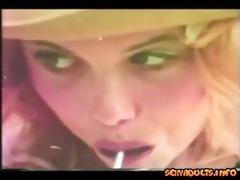 vintage golden-haired oral sex