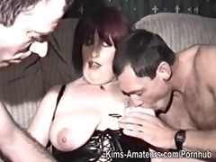 homemade film with mature woman and men