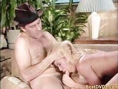 hot golden-haired angel having sex on bed