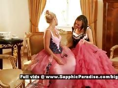 hailee and mya retro lesbian women giving a kiss