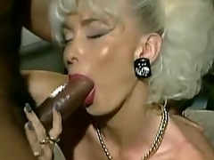 vintage busty platinum blonde with 5 bbc facial