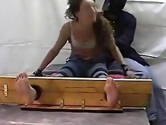 classic barefoot and jeans tickle