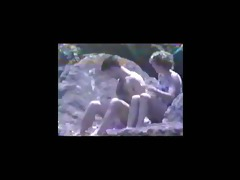 vintage 11017 - beach blow job voyeur