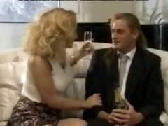 hot bridesmaid gets double penetration in a