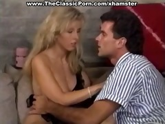 busty blond on hard and chubby stick