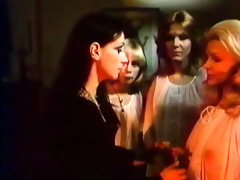 ideal retro lesbo women with fake cock