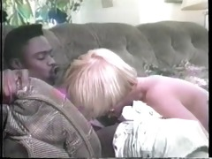 bond whore in classic porn flick rides a black