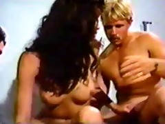 vintage transsexual and fellows in threeway