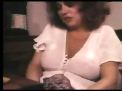 solo retro masturbation on chair