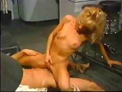 vintage golden-haired receives hard anal large