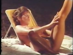 woman dreams of camping - (great vintage lesbian