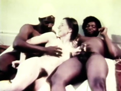 hawt retro three-some havingsex