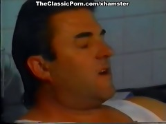vintage sex movie scene with pair on a kitchen