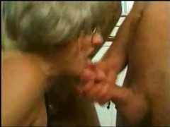 grand mamma trys bang with several youthful chaps