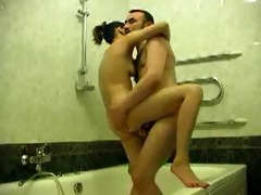youthful and old fuck and engulf in the bath