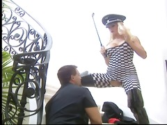 good golden-haired harmony grant in fetish thigh