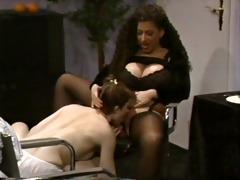 busty tiziana redford in black lingerie lesbo